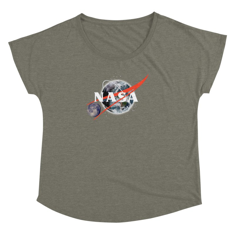 New NASA logo Women's Dolman Scoop Neck by New NASA logo