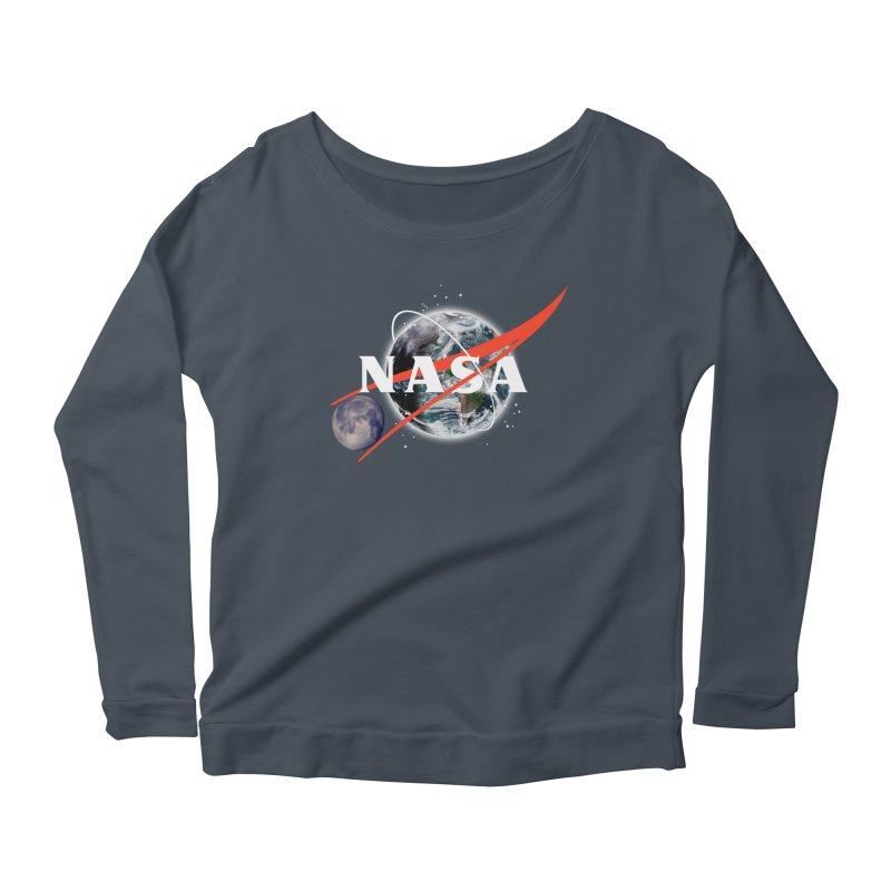 New NASA logo Women's Scoop Neck Longsleeve T-Shirt by New NASA logo