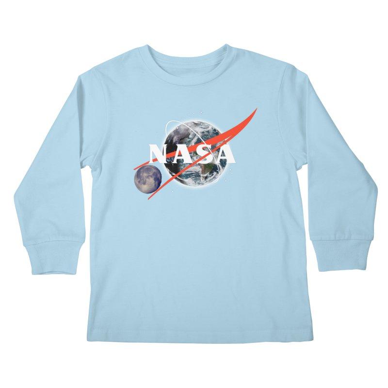 New NASA logo Kids Longsleeve T-Shirt by New NASA logo