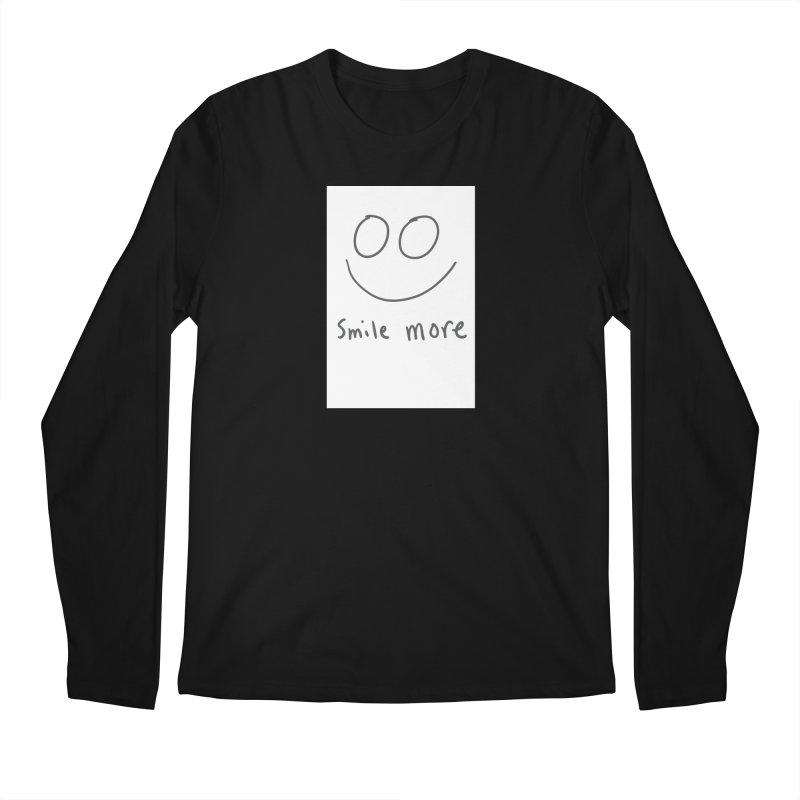 Smile more Men's Regular Longsleeve T-Shirt by AdventGuard