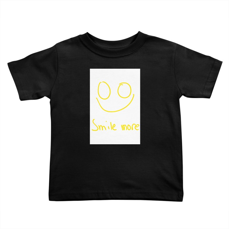 Smile more Kids Toddler T-Shirt by AdventGuard