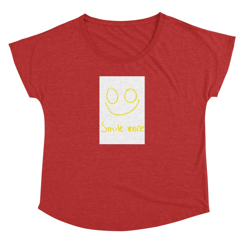 Smile more Women's Dolman Scoop Neck by AdventGuard