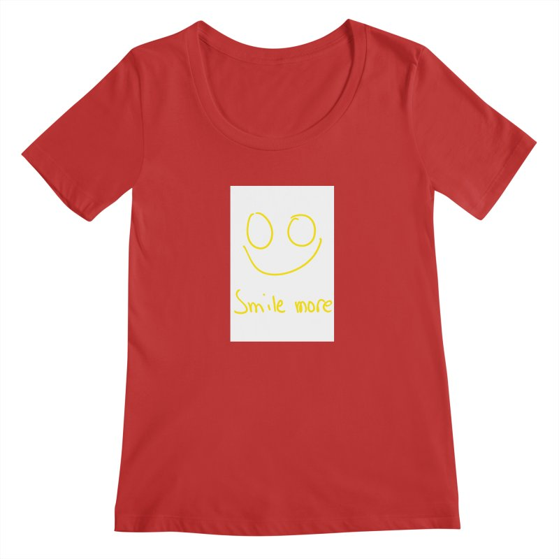Smile more Women's Regular Scoop Neck by AdventGuard