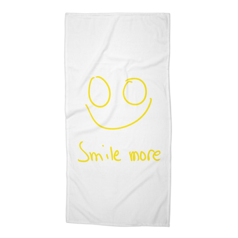 Smile more Accessories Beach Towel by AdventGuard