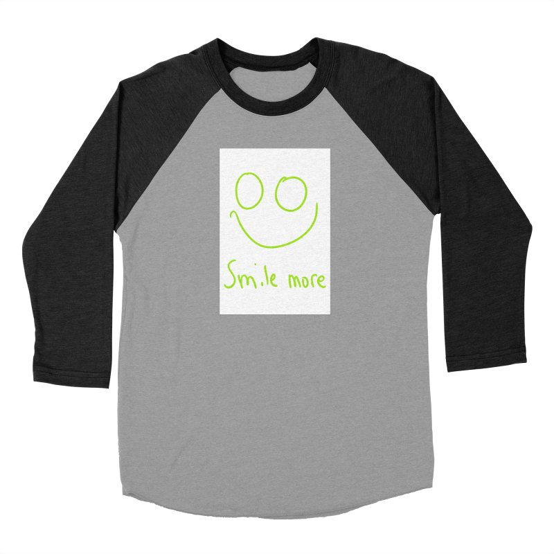 Smile More Women's Baseball Triblend Longsleeve T-Shirt by AdventGuard