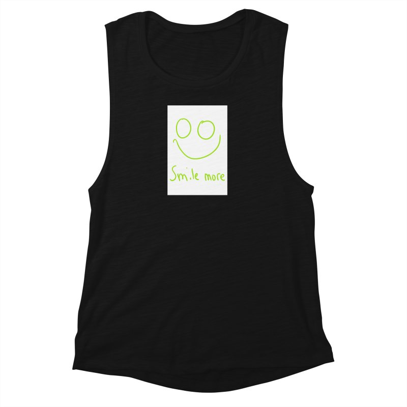 Smile More Women's Muscle Tank by AdventGuard