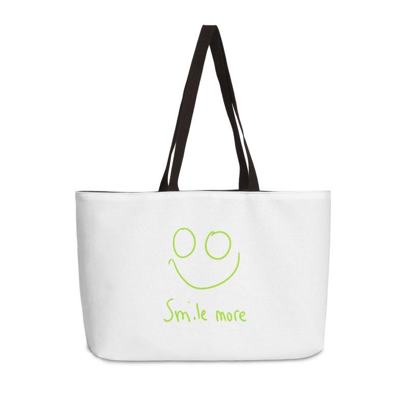 Smile More Accessories Weekender Bag Bag by AdventGuard