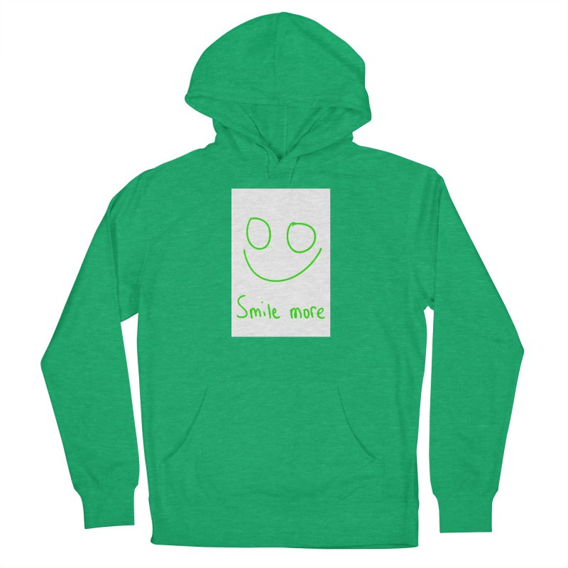 Smile more Men's French Terry Pullover Hoody by AdventGuard