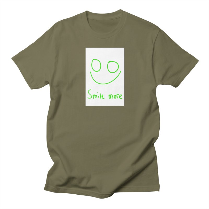 Smile more Men's Regular T-Shirt by AdventGuard