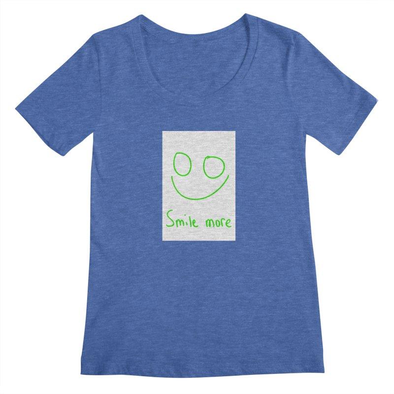 Smile more Women's Regular Scoop Neck by AdventGuard