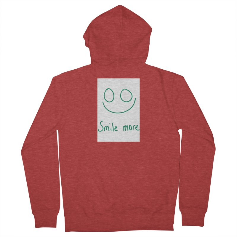Smile more Women's French Terry Zip-Up Hoody by AdventGuard