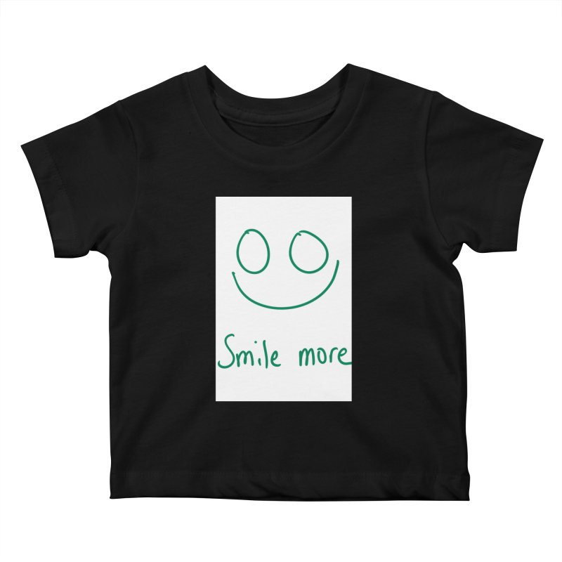 Smile more Kids Baby T-Shirt by AdventGuard
