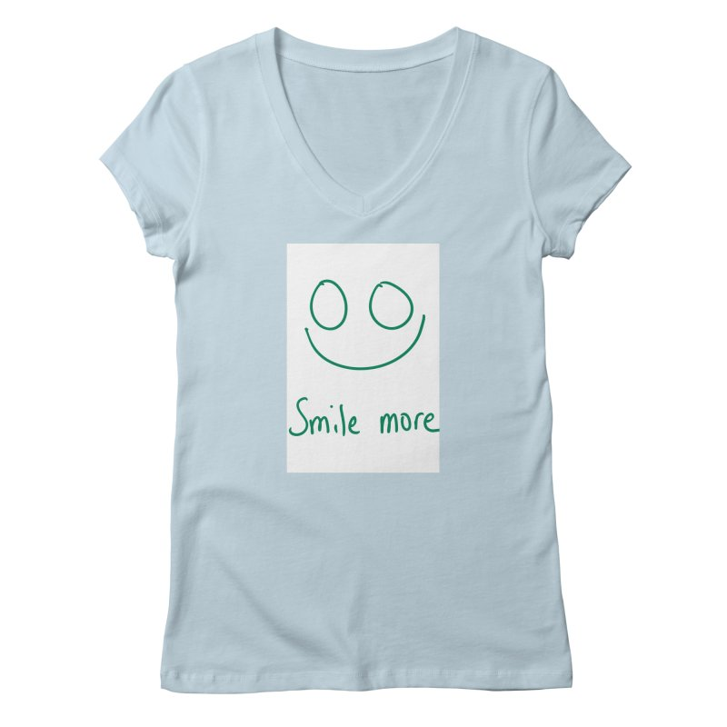 Smile more Women's Regular V-Neck by AdventGuard