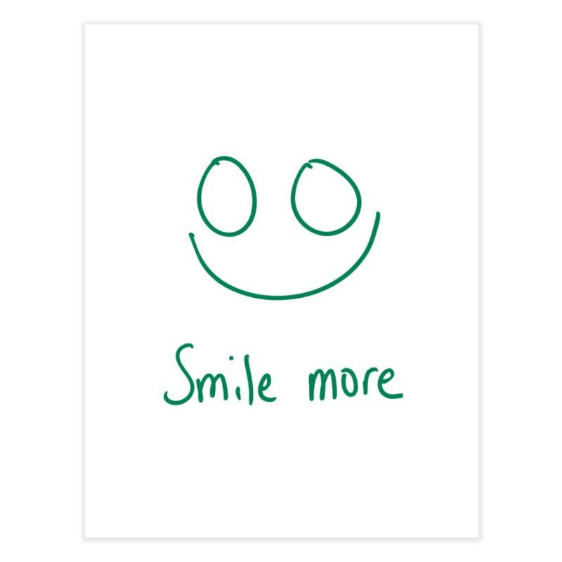 Smile more Home Fine Art Print by AdventGuard