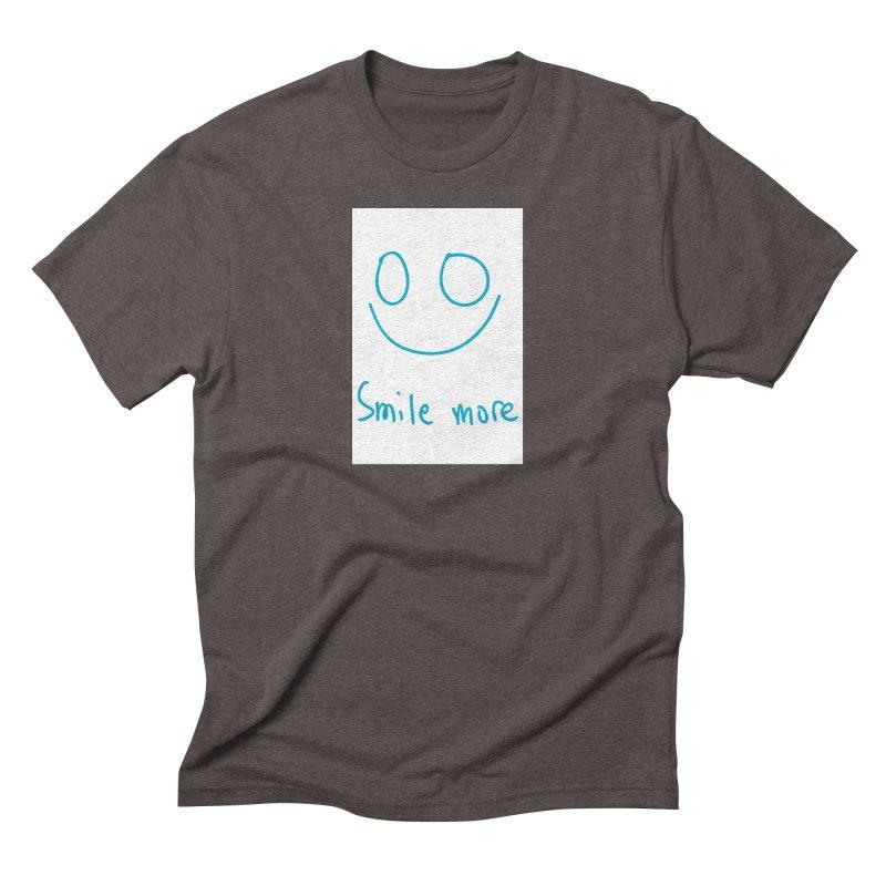 Smile more Men's Triblend T-Shirt by AdventGuard