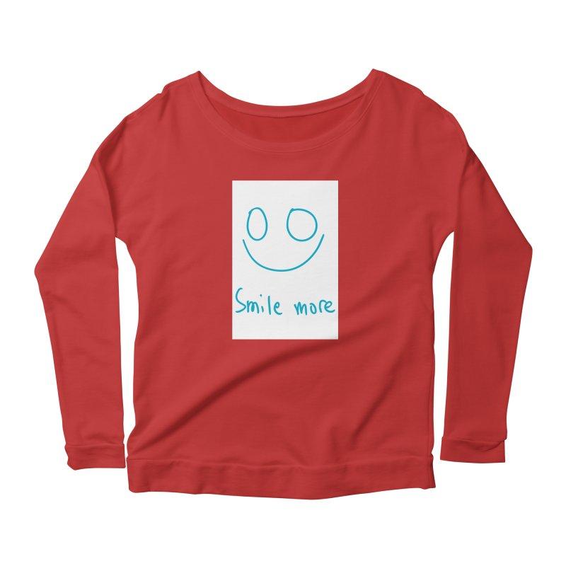 Smile more Women's Scoop Neck Longsleeve T-Shirt by AdventGuard