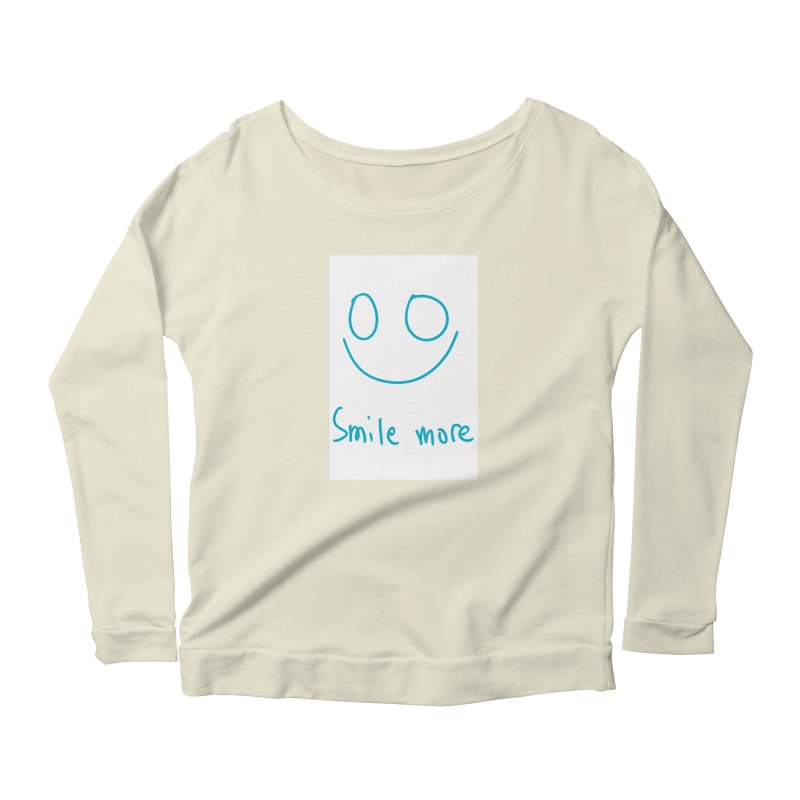 Smile more Women's Scoop Neck Longsleeve T-Shirt by AdventGuard