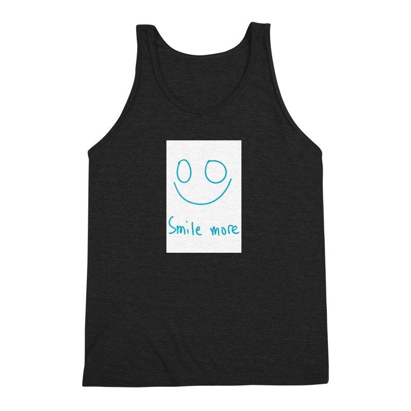 Smile more Men's Triblend Tank by AdventGuard