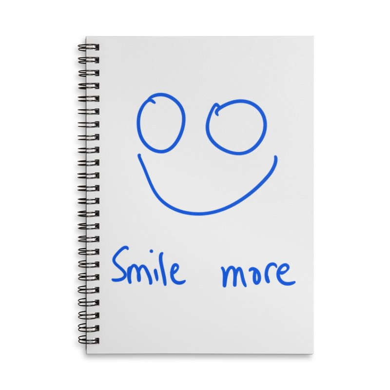 Smile more Accessories Lined Spiral Notebook by AdventGuard