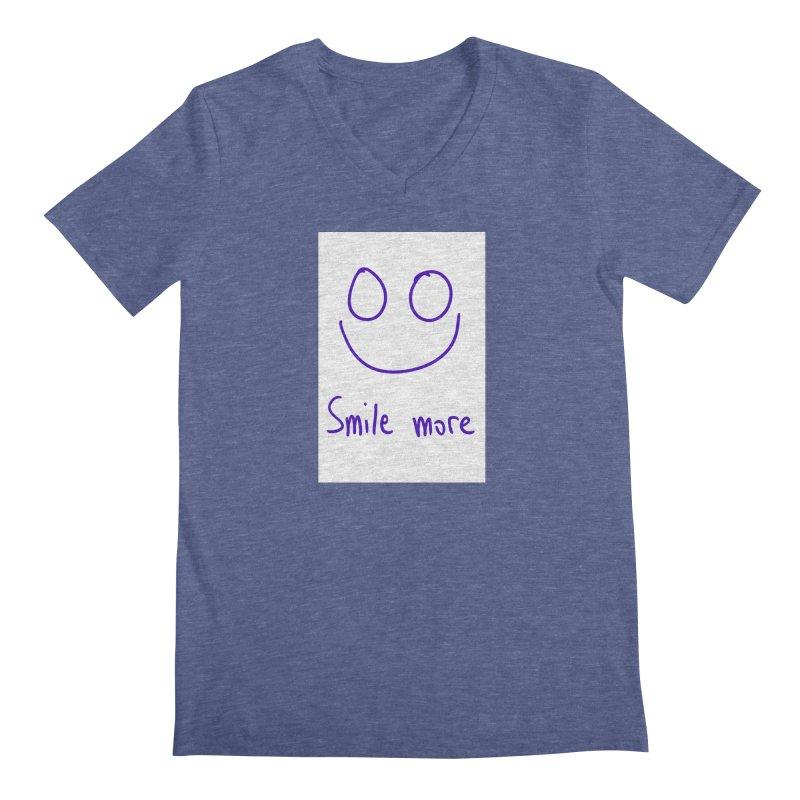 Smile more Men's Regular V-Neck by AdventGuard
