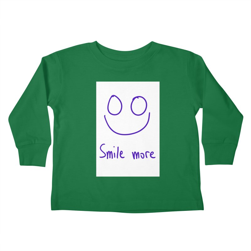Smile more Kids Toddler Longsleeve T-Shirt by AdventGuard