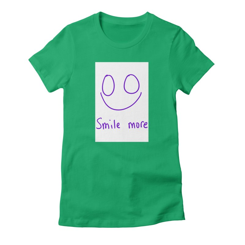 Smile more Women's Fitted T-Shirt by AdventGuard