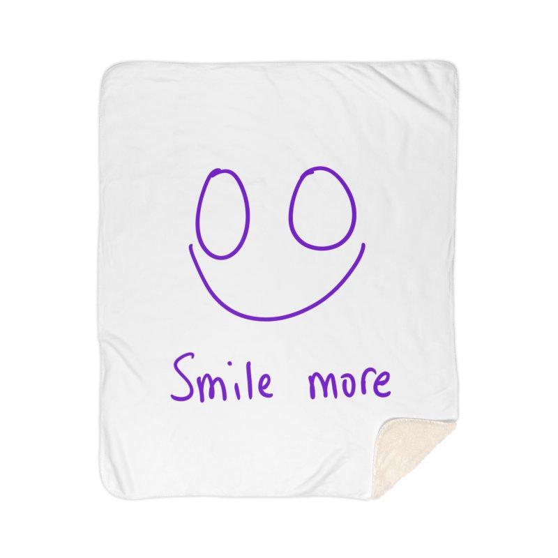 Smile more Home Sherpa Blanket Blanket by AdventGuard