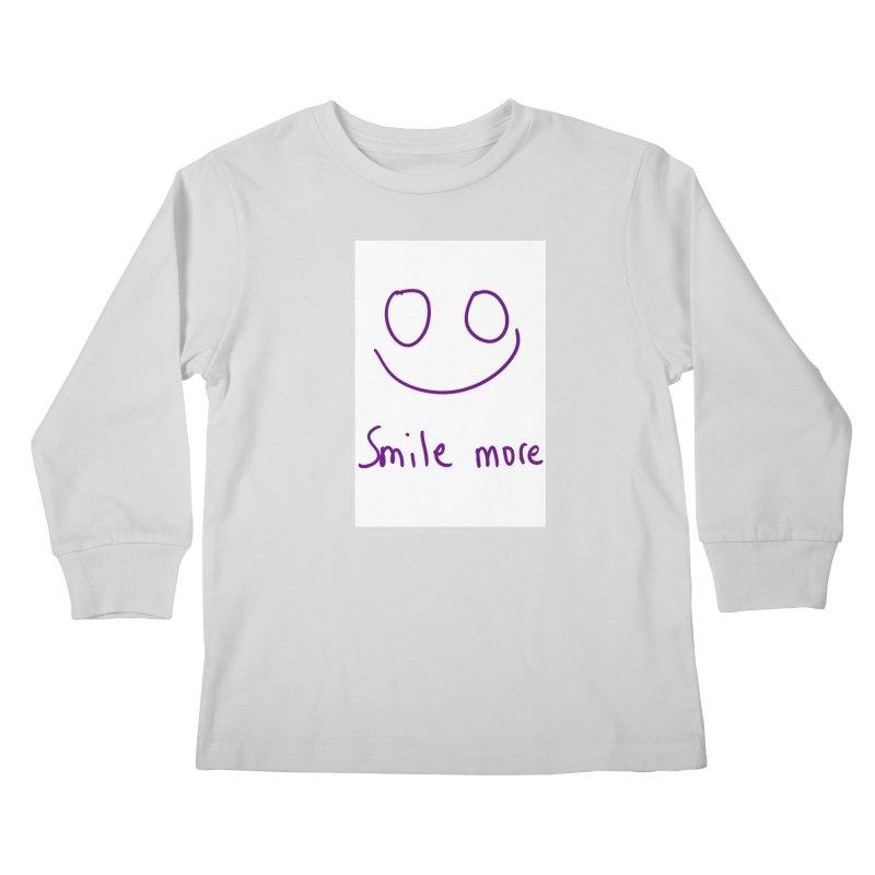 Smile more Kids Longsleeve T-Shirt by AdventGuard