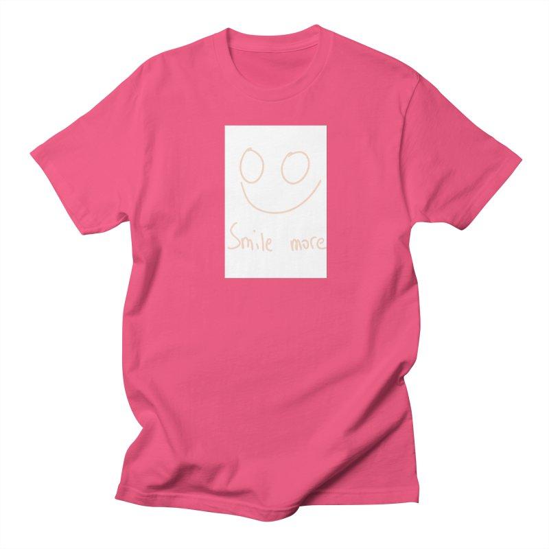 Smile more Women's Regular Unisex T-Shirt by AdventGuard