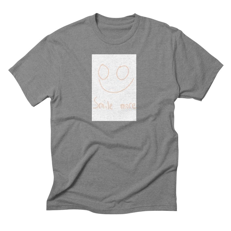 Smile more Men's Triblend T-Shirt by AdventGuard