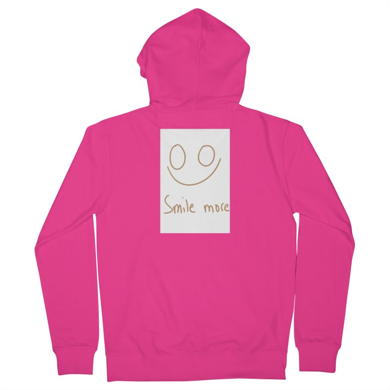 Smile more Men's French Terry Zip-Up Hoody by AdventGuard