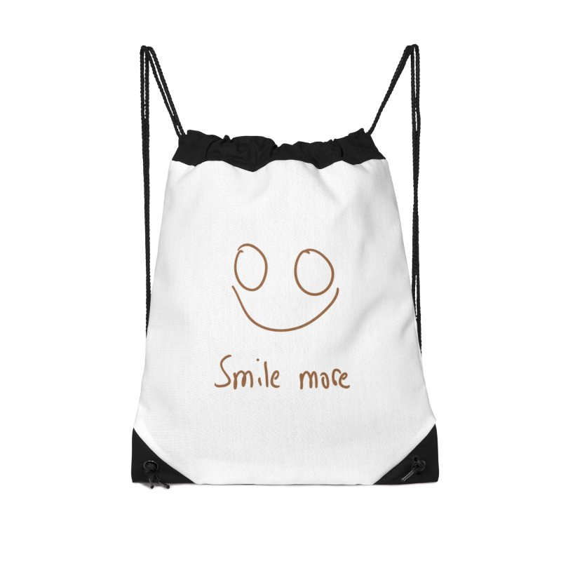 Smile more Accessories Drawstring Bag Bag by AdventGuard