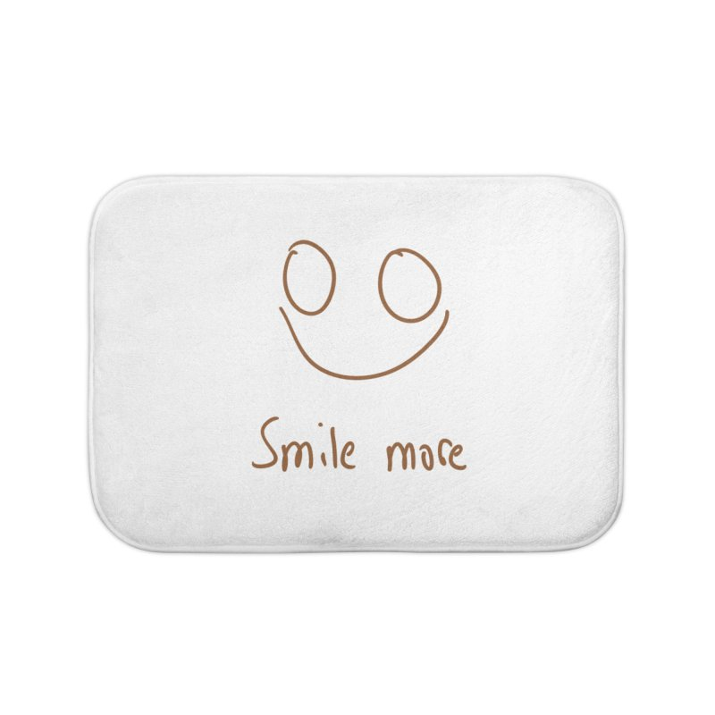 Smile more Home Bath Mat by AdventGuard