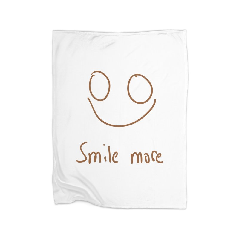Smile more Home Fleece Blanket Blanket by AdventGuard
