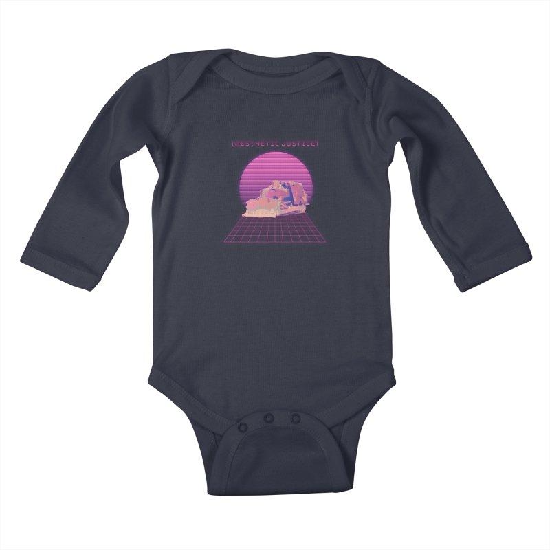 Vapor Dozer Kids Baby Longsleeve Bodysuit by The Agora