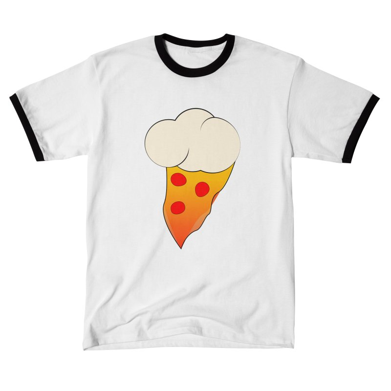 Cloudy with a Chance of Pizza Men's T-Shirt by The Agora