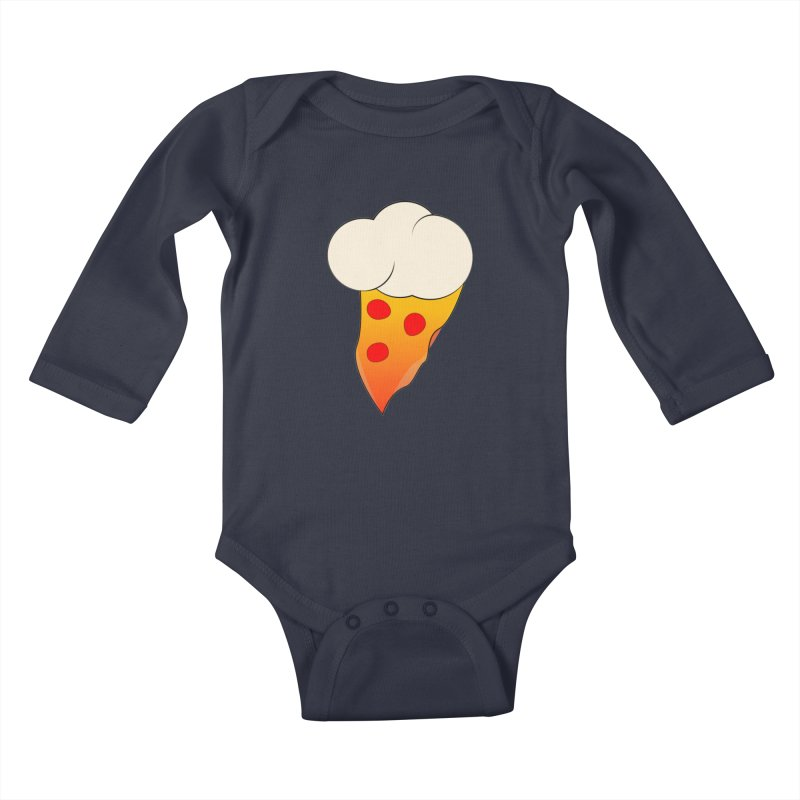 Cloudy with a Chance of Pizza Kids Baby Longsleeve Bodysuit by The Agora