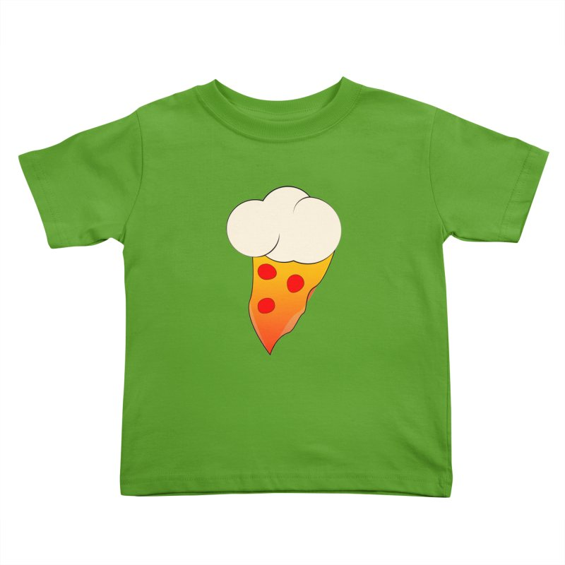 Cloudy with a Chance of Pizza Kids Toddler T-Shirt by The Agora