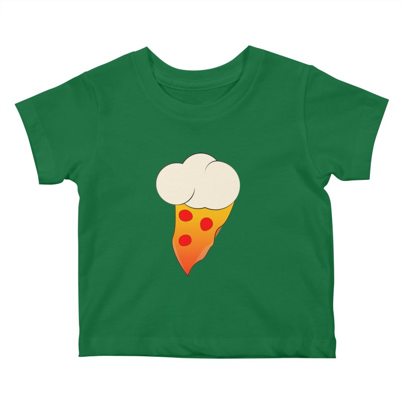 Cloudy with a Chance of Pizza Kids Baby T-Shirt by The Agora