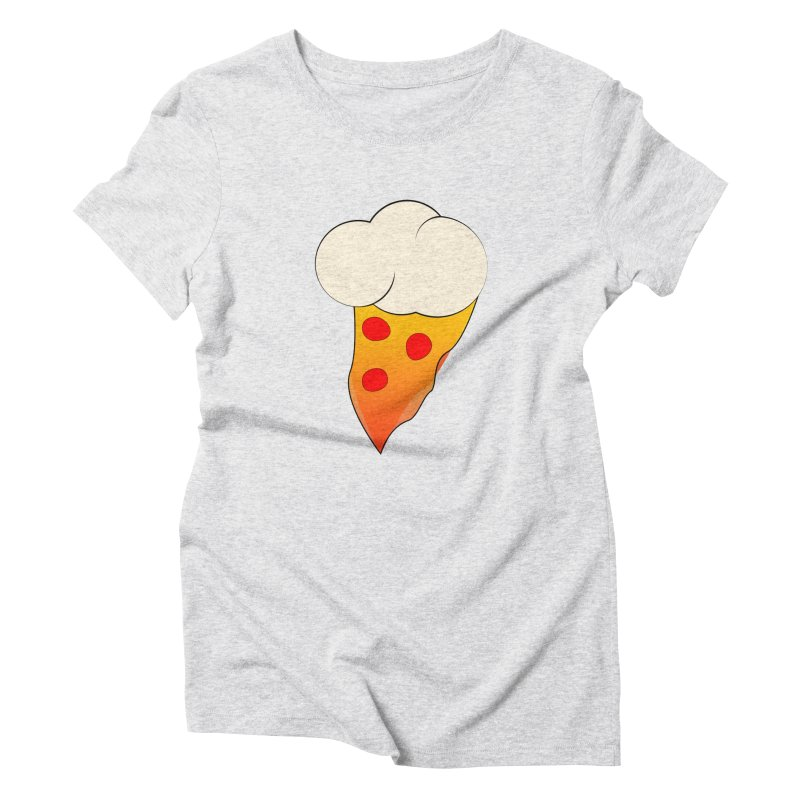 Cloudy with a Chance of Pizza Women's T-Shirt by The Agora