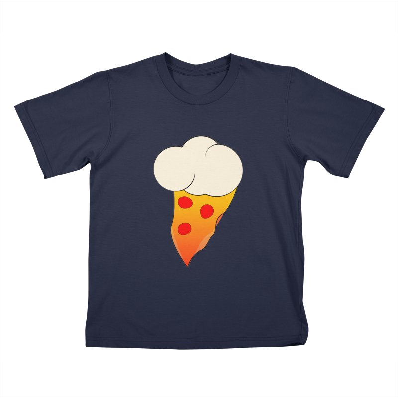 Cloudy with a Chance of Pizza Kids T-Shirt by The Agora