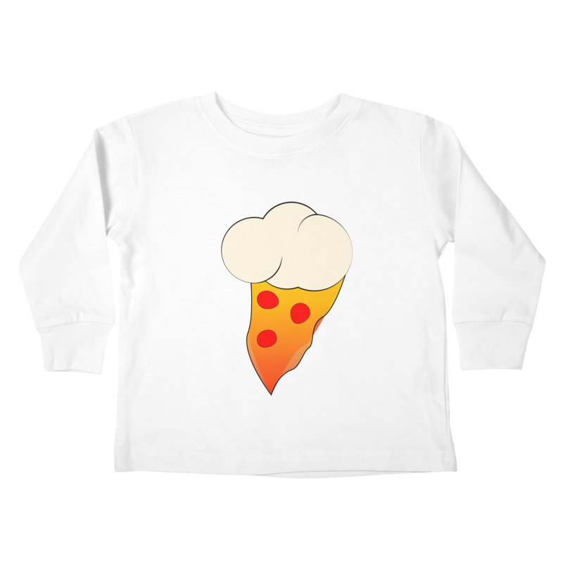 Cloudy with a Chance of Pizza Kids Toddler Longsleeve T-Shirt by The Agora