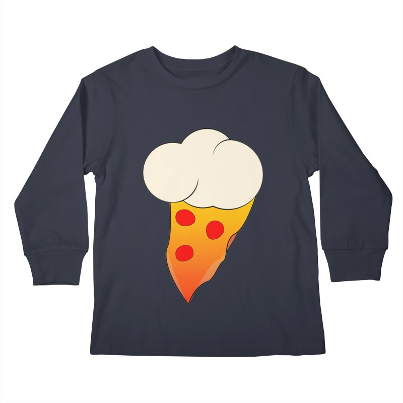 Cloudy with a Chance of Pizza Kids Longsleeve T-Shirt by The Agora