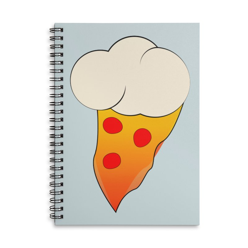 Cloudy with a Chance of Pizza Accessories Notebook by The Agora