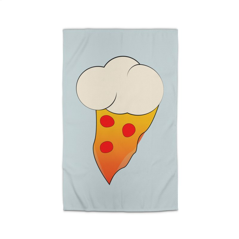 Cloudy with a Chance of Pizza Home Rug by The Agora