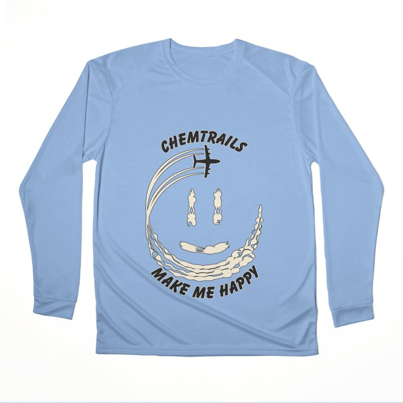 Happy Chemtrails Women's Longsleeve T-Shirt by The Agora