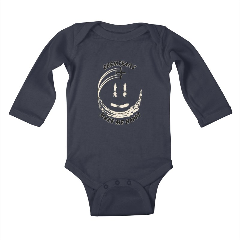 Happy Chemtrails Kids Baby Longsleeve Bodysuit by The Agora