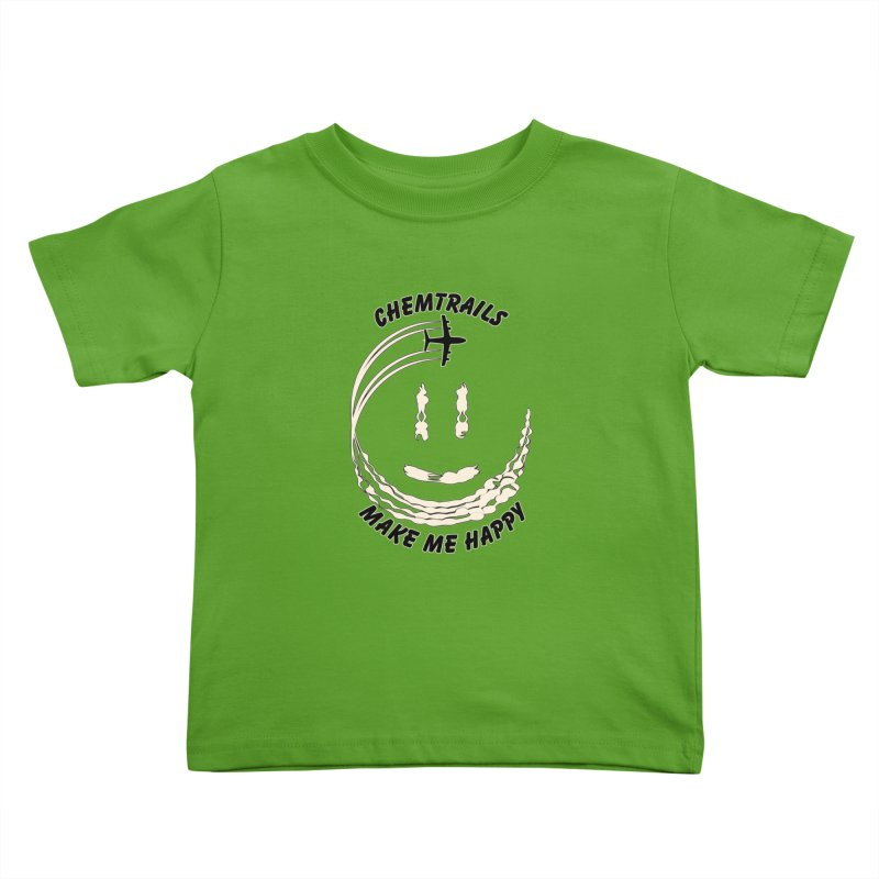 Happy Chemtrails Kids Toddler T-Shirt by The Agora