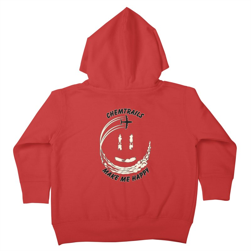 Happy Chemtrails Kids Toddler Zip-Up Hoody by The Agora
