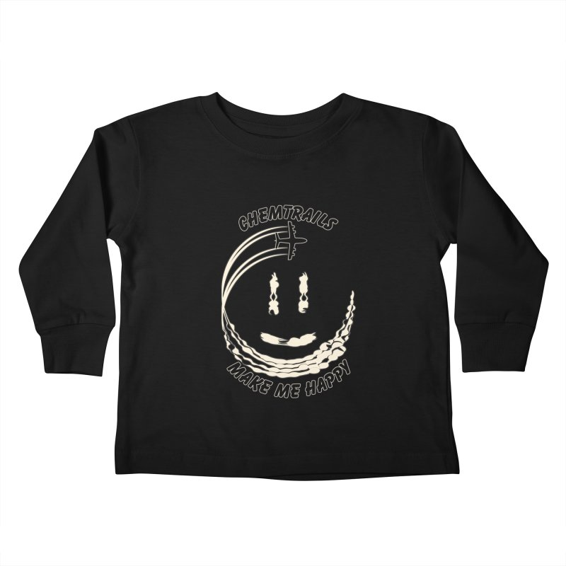 Happy Chemtrails Kids Toddler Longsleeve T-Shirt by The Agora